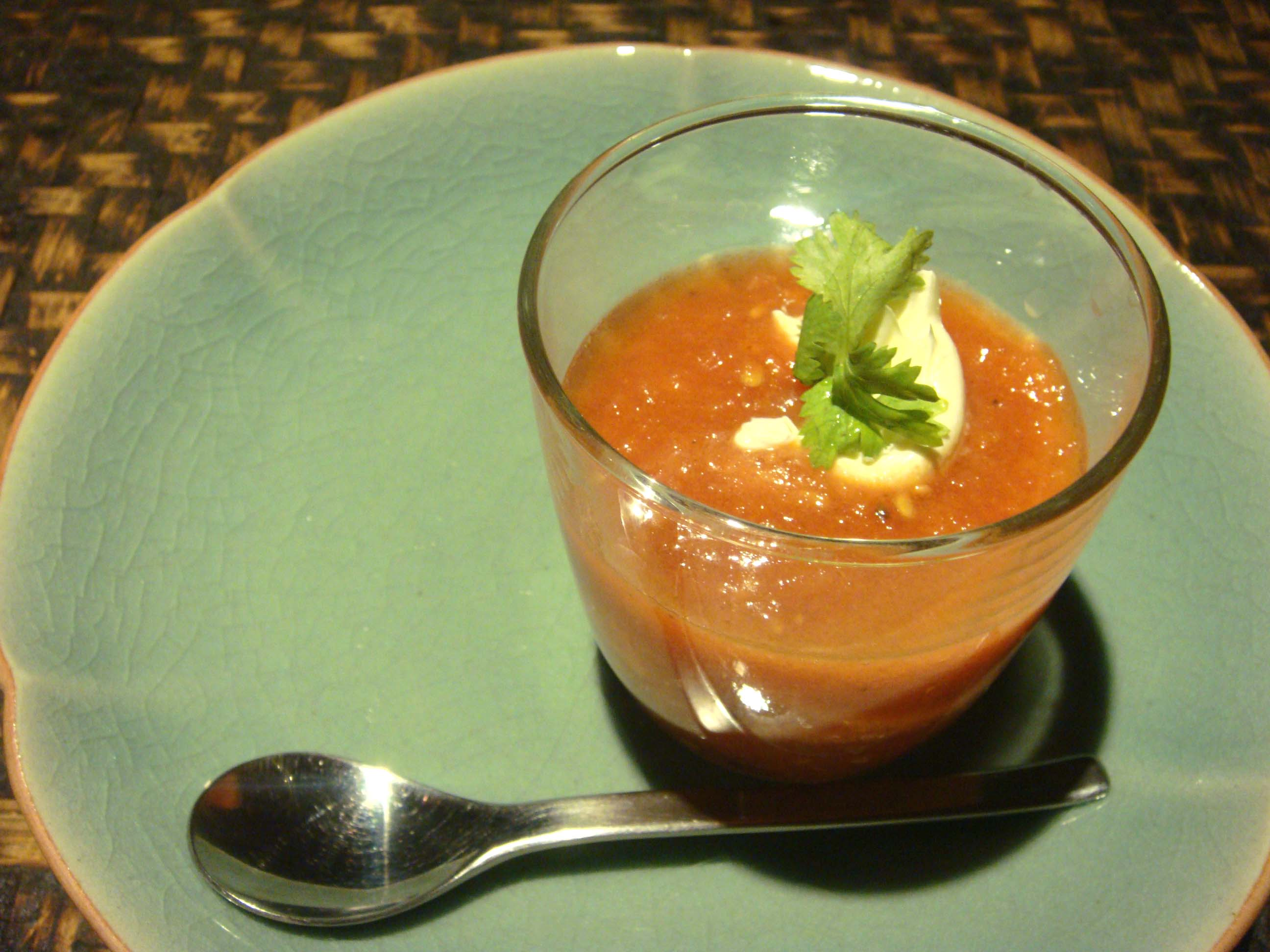 Cold Tomato Summer Vegetable Soup Recipe — Dishmaps